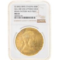 Monnaie, Éthiopie, Birr, 1892 (1899), Paris, Très Rare, NGC, MS64, SPL+ - Ethiopia
