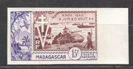 WW821 IMPERF 1954 MADAGASKAR AIR MAIL HISTORY WWII WORLD WAR 2 LIBERATION 1942-1944 1ST MNH - Seconda Guerra Mondiale