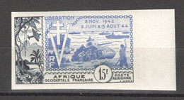 WW828 IMPERF FRENCH WEST AFRICA 1954 AIR MAIL HISTORY WWII WORLD WAR 2 LIBERATION 1942-1944 1ST MNH - Seconda Guerra Mondiale