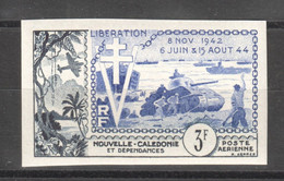 WW829 IMPERF NEW CALEDONIA AND DEPENDENCIES 1954 AIR MAIL HISTORY WWII WORLD WAR 2 LIBERATION 1942-1944 1ST MNH - Seconda Guerra Mondiale