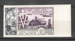 WW831 IMPERF FRENCH SOMALILAND 1954 AIR MAIL HISTORY WWII WORLD WAR 2 LIBERATION 1942-1944 1ST MNH - Seconda Guerra Mondiale