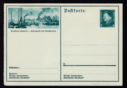 Ebert 8 Pfg. Mit Bild Duisburg-Hamborn, Karte Min. Eckbug - Enteros Postales