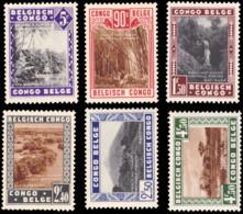 Congo 0197/202** Parcs Nationaux - 1923-44: Mint/hinged