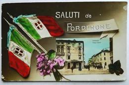 Saluti Da PORDENONE - Immagine Piazza Cavour (Viaggiata) - Pordenone