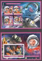 PA072 IMPERF 2019 SPACE PIONEERS YURI GAGARIN TERESHKOVA BL+KB MNH - Sonstige