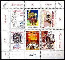 MONACO - 2289 / 2293 - Feuille Complète Festival Du Cirque - Neuf N** - Très Beau - Nuevos