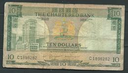 HONG KONG - - THE CHARTERED BANK - 10 DOLLARS - ( Sans Date ,  1970 ) C1898282  - Laura 6201 - Hong Kong