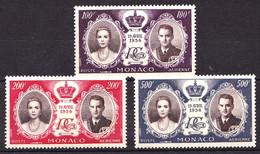 MONACO - PA  63 / 65 - Mariage Princier - Complet 3 Valeurs - Neufs N** - Très Beaux - Aéreo