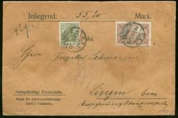 17518 DR Infla Wert Brief Germania MiF Hannover -  Lingen 1920 , Siegel, Bedarfserhaltung. - Covers & Documents