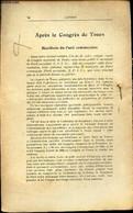 """APRES LE CONGRES DE TOURS - Manifeste Du Parti Communiste - EXTRAIT DE """"L'AVENIR"""" - - COLLECTIF - 0 - Politique"""