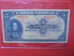 COLOMBIE 5 PESOS 1950 Circuler (B.22) - Colombia