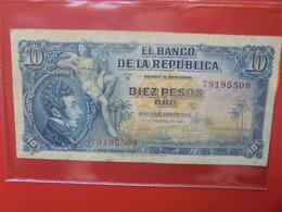 COLOMBIE 10 PESOS 1961 Circuler (B.22) - Colombia