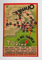 """Cartolina Postale Pubblicitaria """"Il Bel Canavese"""" Con La Ferrovia Centrale Del Canavese, Non Viaggiata - Pubblicitari"""