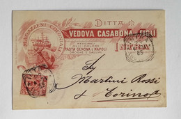 Cartolina Pubblicitaria Ditta Vedova Casabona & Figli Intra, Viaggiata 1904 - Advertising