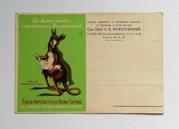 """Cartolina Pubblicitaria """"Talco Antisettico Boro Thymol"""" Del Cav.Dott. V.E. Wiechmann Firenze, Non Viaggiata - Advertising"""