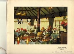 """PAUL BOCUSE MOF 1961-LIVRET 2 FEUILLETS-RECETTE DE LA SOUPE """"A LA JAMBE DE BOIS""""-TEXTE J.COURTINE DE L'ACADEMIE RABELAIS - Menus"""