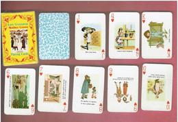 JEU 52 MINI CARTES A JOUER LES CONTES DE MERE L OIE DE CHARLES PERRAULT DESSINS DE KATE GREENAWAY MOTHER GOOSE - 54 Cards