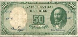 BANCO CENTRAL DE CHILE 50 CINCUENTA PESOS - Chile