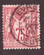 Type Sage N° 71 - Oblitération CàD Cercle Intérieur Tireté Evreux (Eure) - Octobre 1884 - 1876-1878 Sage (Typ I)