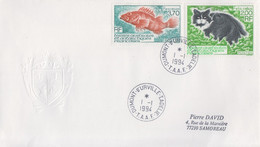 Enveloppe   FDC   1er  Jour   T.A.A.F   Chat  Et   Rascasse   1994 - FDC
