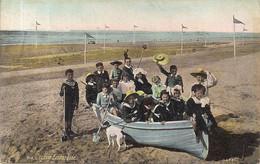 AQUA PHOTO N°1618-JOYEUSE EMBARQUEE-PLEZIERIGE INSCHEPING-AFSTEMPELING BLANKENBERGHE  1908 - Gruppen Von Kindern Und Familien