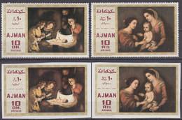 Ajman 1969 Mi # 455-56 AB Paintings By Gerard Van Honthorst & Murillo MNH OG - Altri