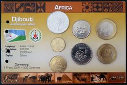 1.DJIX01 - COINSET DJIBOUTI - 7 Pièces 5 à 500 Francs - Djibouti