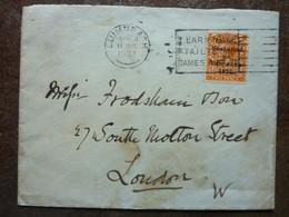 1922  King George V  Orange  Overprint Die II   LUIMNEACH  On A Letter - Storia Postale