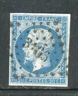 Superbe N° 14A Cachet PC 3166 (  St Lo ) - 1853-1860 Napoleon III