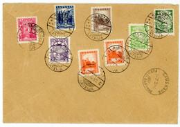 LETTONIE ENV 1937 RIGA DZ ST LATVIJA LETTRE RECOMMANDEE => FRANCE - Lettonia