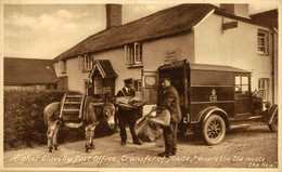 Higher Clovelly Post Office Transfer Of Mails  ANE DONKEY EZEL ESEL MULES Donkeycollection - Clovelly
