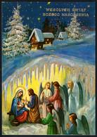 E9211 - TOP Weihnachtskrippe Krippe Glückwunschkarte Weihnachten Golddruck - Zonder Classificatie