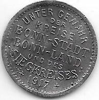 *notgeld Bonn 5 Pfennig 1917 Zn 1792.1 /F 52.1 - Other