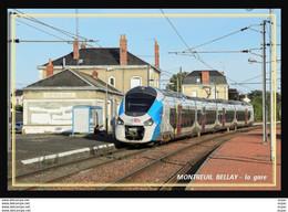 49  MONTREUIL  BELLAY  .... La Gare .... Les Quais - Montreuil Bellay