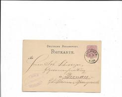 Karte Aus Gailingen Nach Bernau 1883 - Lettres & Documents