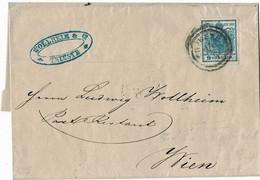 (1850) 9 Kr. Type 1, Plattenfehler , Brief , A4384 - Cartas