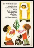 E9223 - Geißler Ingeborg Glückwunschkarte - Weihnachtskrippe Krippe - Verlag Aurig DDR - Unclassified
