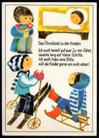 E9224 - Geißler Ingeborg Glückwunschkarte - Weihnachtskrippe Krippe - Verlag Aurig DDR - Unclassified