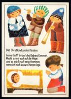 E9225 - Geißler Ingeborg Glückwunschkarte - Weihnachtskrippe Krippe - Verlag Aurig DDR - Unclassified