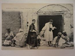 MEKNES GROUPE D'INDIGENES ISRAELITES SCENE ET TYPE - Meknes