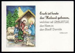 E9226 - Glückwunschkarte Weihnachten - Weihnachtskrippe Krippe - Verlag Schäfer DDR - Non Classés