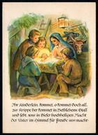 E9230 - Glückwunschkarte Weihnachten - Weihnachtskrippe Krippe - Verlag Max Müller Karl Marx Stadt  DDR - Non Classés