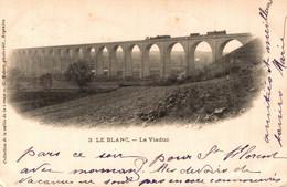 N°8418 Z -cpa Le Blanc -le Viaduc Avec Train- - Structures