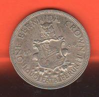 Bermuda 1 One Crown 1964 Britisch Territory Silver Coin - Bermuda