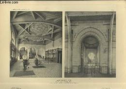 Gare De Biarritz - Ville : Salle Du Départ - Travée Et Passage De La Sortie Des Voyageurs - Planche En Noir Et Blanc N°4 - Art