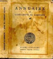 Annuaire De L'Université De Bordeaux. Livret De L'étudiant 1955-1956 - COLLECTIF - 1955 - Annuaires Téléphoniques