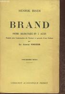 Brand- Poème Dramatique En 5 Actes - Ibsen Henrik - 1939 - Other