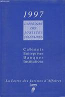 2 Volumes/L'annuaire Des Juristes D'affaires Edition 1997- Cabinets, Entreprises, Banques, Institutions+ Mémo Des Jurist - Annuaires Téléphoniques