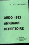 Ordo 1992 Annuaire Répertoire - Collectif - 0 - Annuaires Téléphoniques