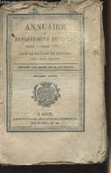 Annuaire Du Département Du Gers, Pour L'année 1827, Avec Le Système De Toaldo, Imprimé Par Ordre De M. Le Préfet - 10e A - Annuaires Téléphoniques